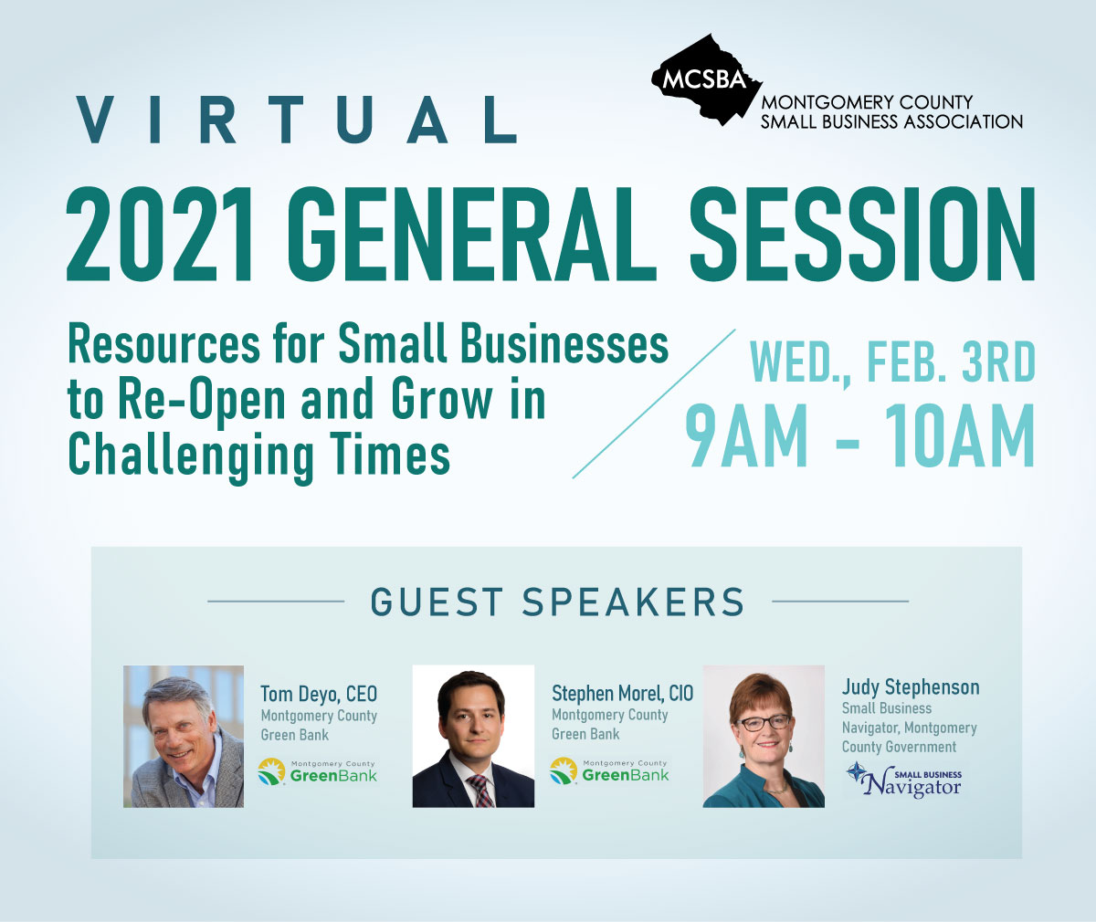 Resources for Business to Re-Open and Grow in Challenging Times, 02/03/2021