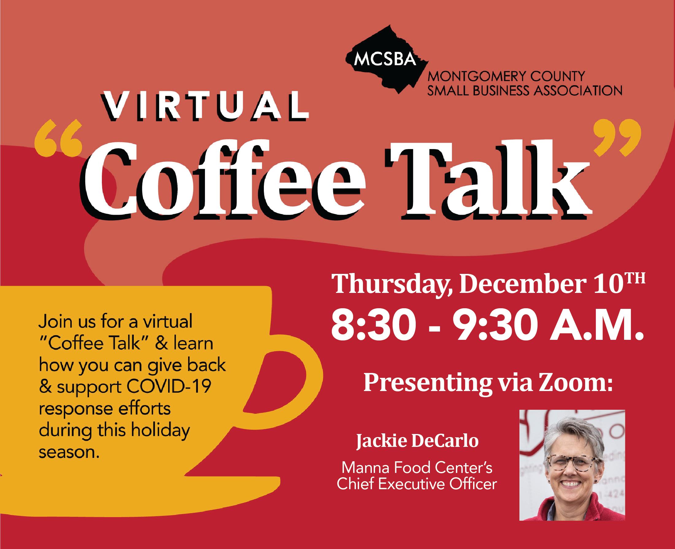Coffee Talk with MANNA Food Center, 12/10/2020