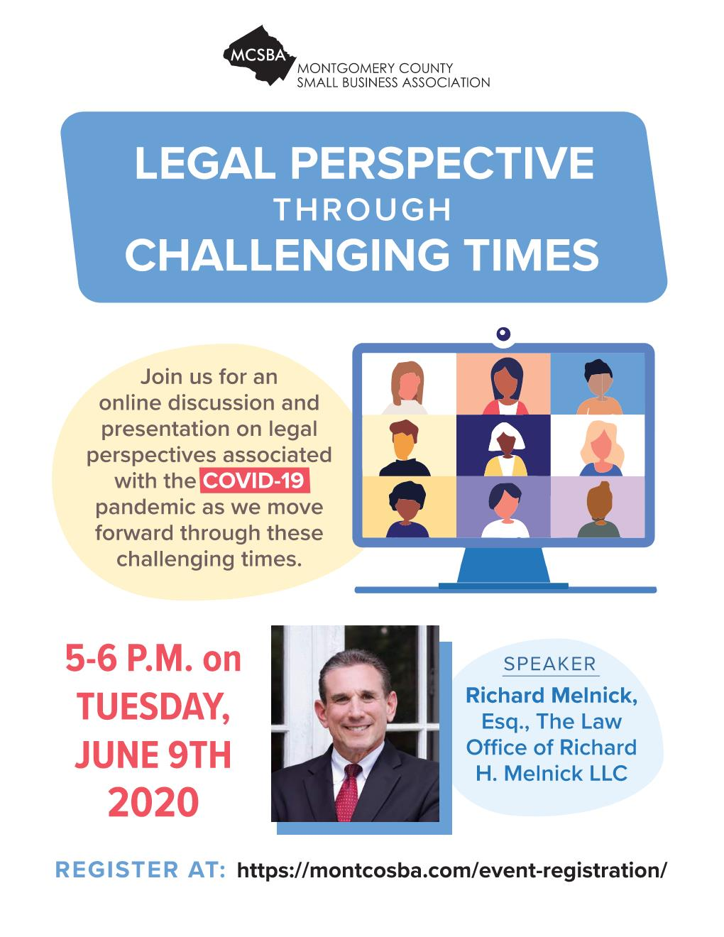 Legal Perspective Through Challenging Times, 06/09/2020