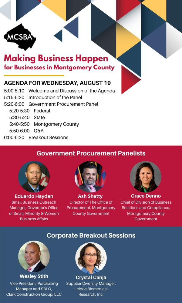 Making Business Happen for Businesses in Montgomery County, 08/19/2020