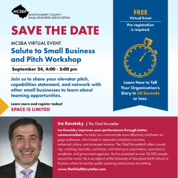 Salute To Small Business & Pitch Workshop, 09/24/2020